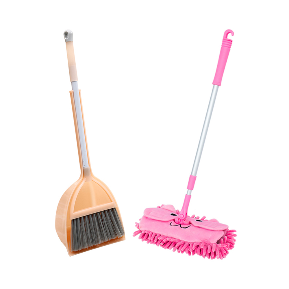 New Children Kitchen Broom Pretend Play Toys Mops Floor Cleaning Miniature Play Do House Education Toy  Cleaning Toy Set J75