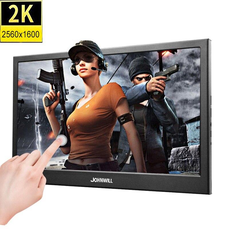 Портативный монитор ПК 10,1 дюймов 2K ips сенсорный экран маленький игровой монитор hdmi ЖК дисплей PS3 4 Xbox360 планшет для Windows 7 8 10
