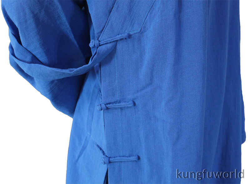 Custom Maak 25 Kleuren Linnen Shaolin Uniform Boeddhistische Monnik Kung Fu Vechtsporten Pak Tai Chi Wing Chun Wudang Taoïstische kleding
