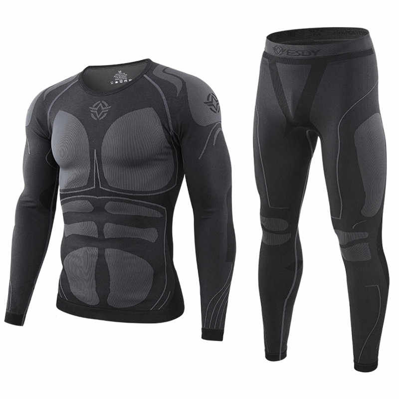 Nouveaux hommes sous-vêtements thermiques hiver Sports chauds longs Johns en plein air Linner vêtements cyclisme formation costumes tactiques hommes longs Johns