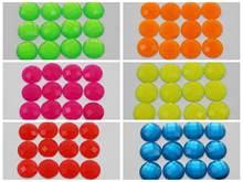 100 смешанные неоновые цветные акриловые круглые стразы с плоской