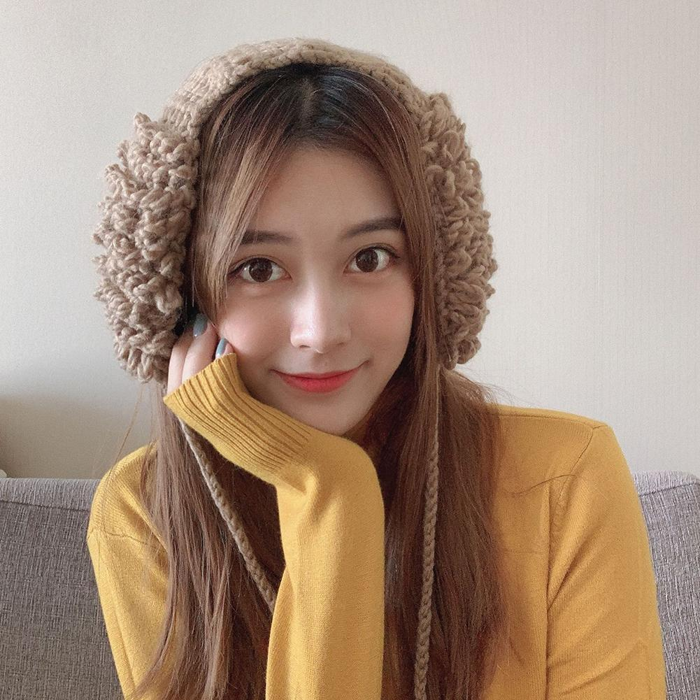 Hot Winter Fashion Women Cute Pompom Warm Woolen Knitted Ear Cover Earmuff Gift