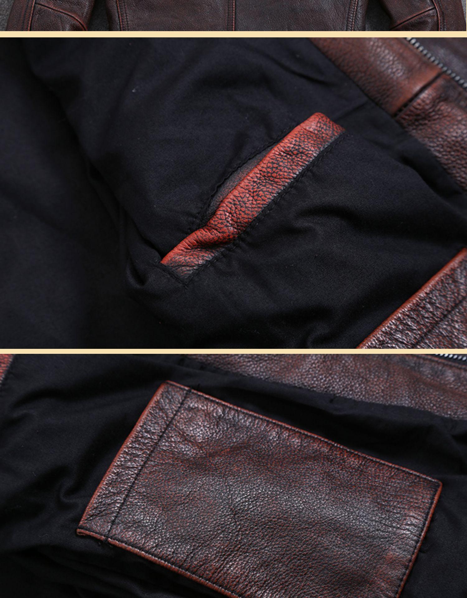 Ha26c6ea8253a4f38a7caba74a6a5f427q AYUNSUE Vintage Genuine Cow Leather Jacket Men Plus Size Cowhide Leather Coat Slim Short Jacket Veste Cuir Homme L-Z-14 YY1366