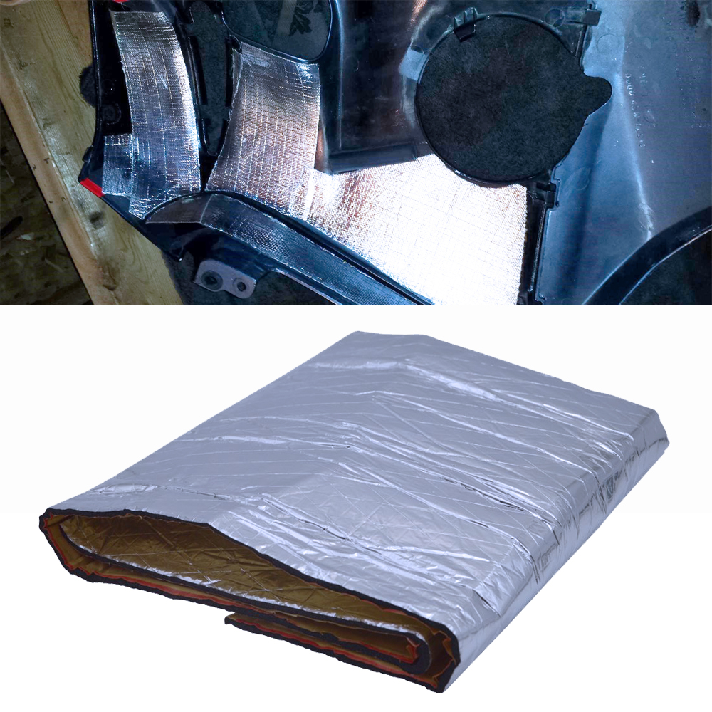 39.3 X 11.8 Inches Car Noise Sound Deadener Deadening Heat Shield Moistureproof Mat For ABS Fairing Motorcycle Heatshield