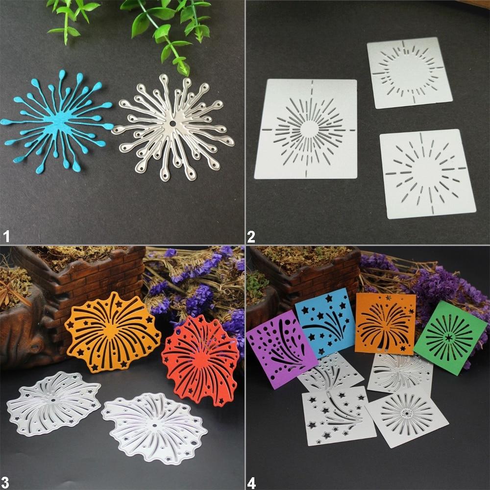 Fireworks Metal Cutting Dies Stencil DIY Scrapbooking Album Paper Card Embossing