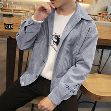 japanese streetwear Corduroy Lapel Long Sleeve Vintage retro Jacket masculine autumn hipster bomber jackets coats couple wear new ladies autumn corduroy retro jacket
