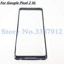 قطع غيار عدسات اللوحة الخارجية LCD الأصلية لـ Google Pixel 2XL 2 XL XL2 للزجاج الأمامي 6.0 بوصة تعمل باللمس لـ Pixel2 XL