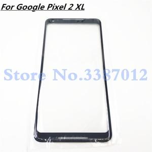 Image 1 - قطع غيار عدسات اللوحة الخارجية LCD الأصلية لـ Google Pixel 2XL 2 XL XL2 للزجاج الأمامي 6.0 بوصة تعمل باللمس لـ Pixel2 XL