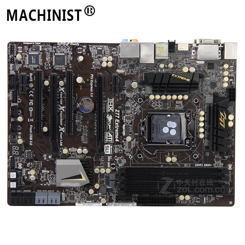 For ASRock Z77 Extreme 4 Desktop Motherboard MB Intel Z77 LGA 1155 ATX DDR3 32GB SATA3.0 USB3.0 100% Fully Tested Free Shipping