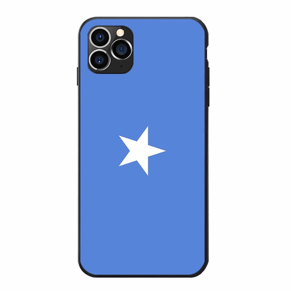Somalijska flaga narodowa herb Theme miękka TPU etui na telefon etui na iphone'a 6 7 8 S XR X Plus 11 Pro Max
