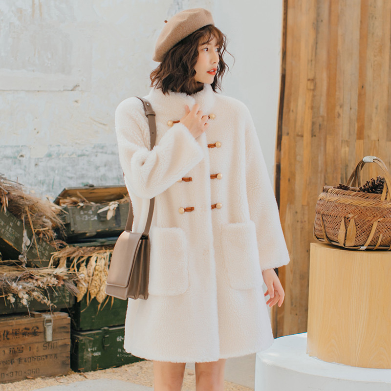 Sheep Real 2020 Shearling Fur Coat Female 100% Wool Coats Winter Jacket Women Korean Long Jackets Chaqueta Mujer MY4144 S S