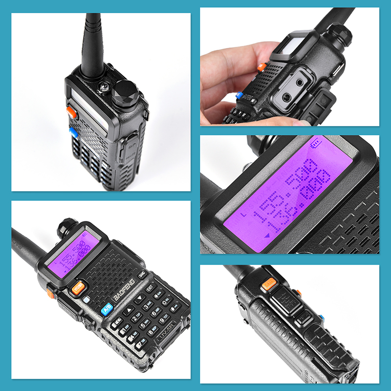 2PCS Hot Portable Radio Baofeng UV-5R two way radio Walkie Talkie pofung 5W vhf uhf dual band baofeng uv 5r 3
