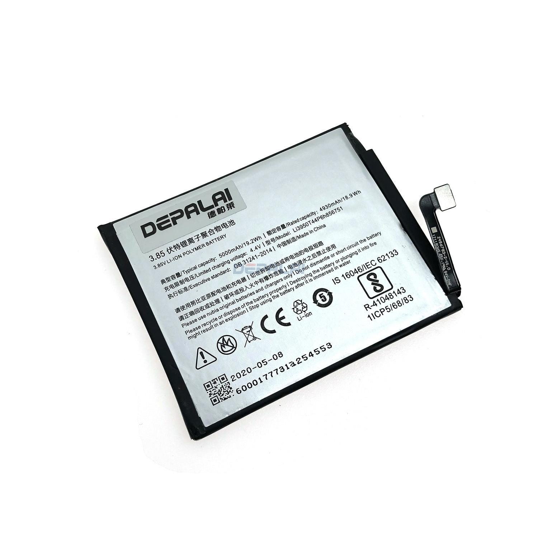 3.85V 5000mAh Li3950T44P6h856751 For ZTE Nubia N2 / NX575J Battery(China)
