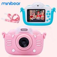 Minibear crianças câmera para crianças câmeras de brinquedo para crianças 1080p hd câmera de vídeo para o aniversário da criança presentes de natal para o menino da menina