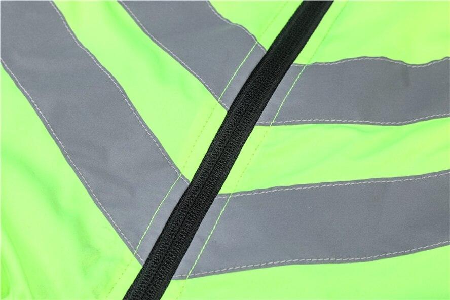 Ciclismo jaqueta fina reflexiva camisa estrada mtb