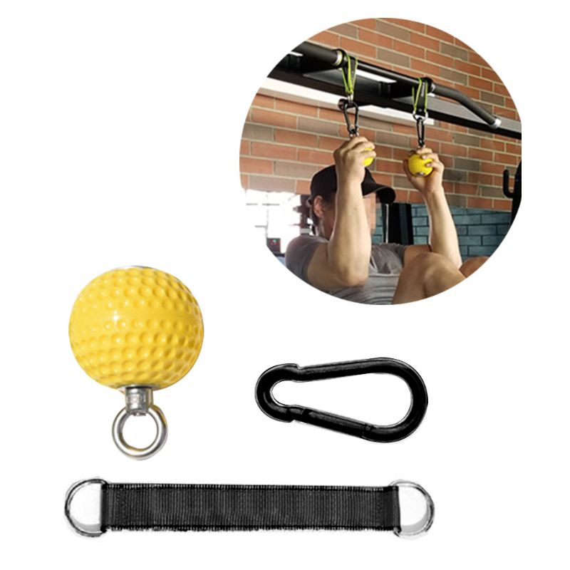 Training Arm Back Muscles Pull-ups Ball Wrist Climbing Hand Grip Strength Ball G99D