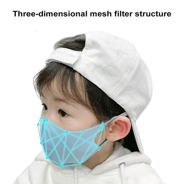 Kids Outdoor Cycling Anti Dust Haze Sponge Mouth Face Mask Respirator Masks Kids Dust Mask Windproof Facial Mask Sports Anti-fog 2