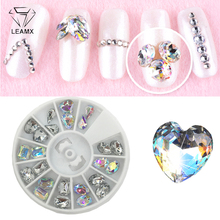 LEMAX Mix/Wheel 3D Crystal Gems Nails Art Decorations Glass Drill DIY Jewelry Nail Charms Diamond Glue In The L524