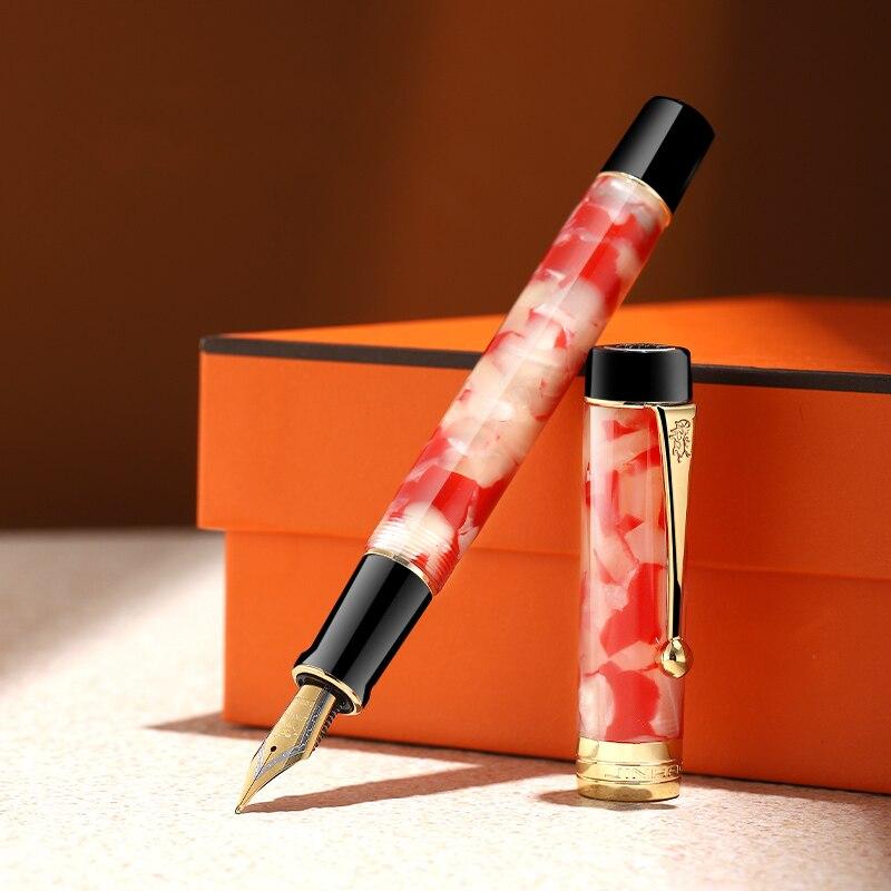 Luxury Jinhao Century 100 Fountain Pen  Acrylic Gold Clip 0.7mm Nib Collect Pen Business Office Supplies Caneta Tinteiro