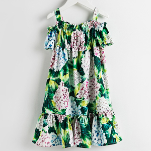 Image 3 - Beenira Girls Summer Dress 2020 New European And American Style Children Flower Pattern Sleeveless Dresses4 14Y Kids  Cute Dress