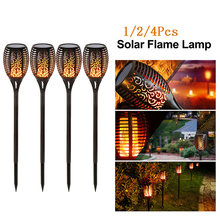 LED Solar Api Lampu Berkedip Outdoor IP65 Tahan Air 1/2/4 Pcs Pemandangan Halaman Lampu Taman Lampu Jalan torch Light Lampu Sorot(China)