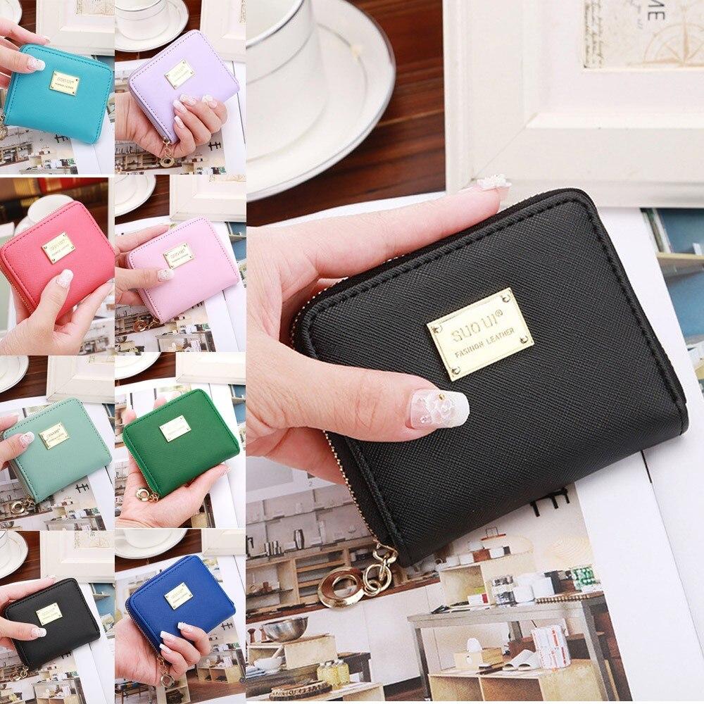 Women Green Mustache Beard Leather Wallet Large Capacity Zipper Travel Wristlet Bags Clutch Cellphone Bag