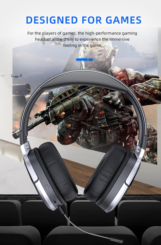 AWEI A799BL سماعة الألعاب بلوتوث V5.0 ثلاثية الأبعاد الصوت طوي سماعة سلكية  لاسلكية 5000mAh بطارية مع ميكروفون خارجي | سماعات أذن وسماعات رأس بلوتوث |  Naoko