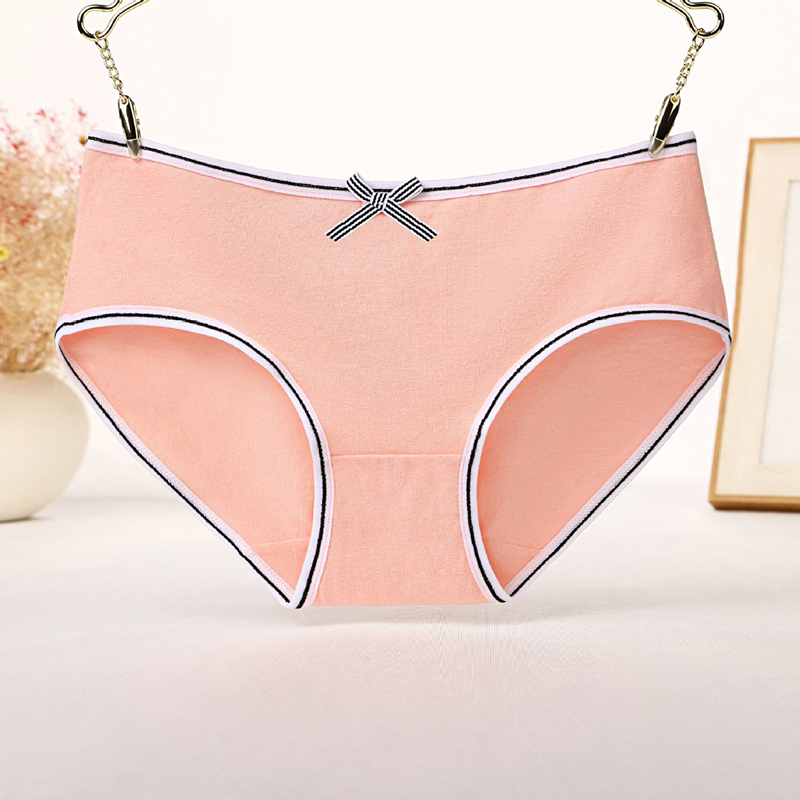 Cotton Panty 2020 Solid Women's Panties Comfort Underwear Skin-friendly Briefs For Women Sexy Low-Rise Panty Intimates
