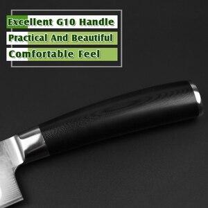 """Image 3 - XINZUO 7 """"Santoku סכין vg10 דמשק יפני נירוסטה סכיני מטבח מקצועי שף קליבר לבשל כלים G10 ידית"""