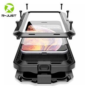 Image 1 - Outdoor Zware Doom Armor Shockproof Metal Case Voor Iphone 11 Pro Xs Max Xr X 7 8 6 6S Plus 5S 5 Stofdicht Bescherming Cover