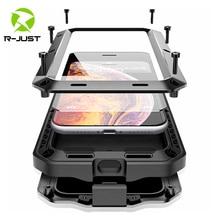 Zewnętrzna, odporna na wstrząsy, odporna na wstrząsy metalowa obudowa do iPhone 11 Pro XS MAX XR X 7 8 6 6S Plus 5S 5 pyłoszczelna pokrywa ochronna