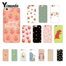 Yinuoda Cute Cartoon Dinosaur Peach Avocado Fruit Colorful Cute Phone Case For iPhone 8 7 6 6S Plus X XS MAX 5 5S SE XR Coque(China)