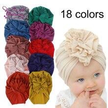 Nishine nowy uroczy kwiat dziewczynek Turban kapelusze moda dzieci Bonnet czapki zdjęcie dzieci rekwizyty nakrycia głowy upominki na imprezę urodzinową