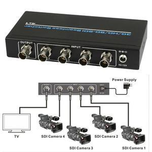 4 Port BNC SD-SDI/HD-SDI/3G-SDI Seamless Switch Scaling 4x1 Switcher 1080P Video Converter SDI Camera to TV 4 IN 1 OUT + Adapter(China)