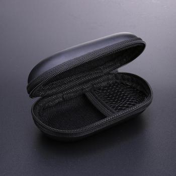 Słuchawki EVA etui na słuchawki pojemnik na kabel przechowywanie słuchawek dousznych etui na słuchawki Bluetooth torba na słuchawki schowek na słuchawki tanie i dobre opinie CN (pochodzenie) Torby Other PU EVA Black 110 60 40 mm approx All headphones Support
