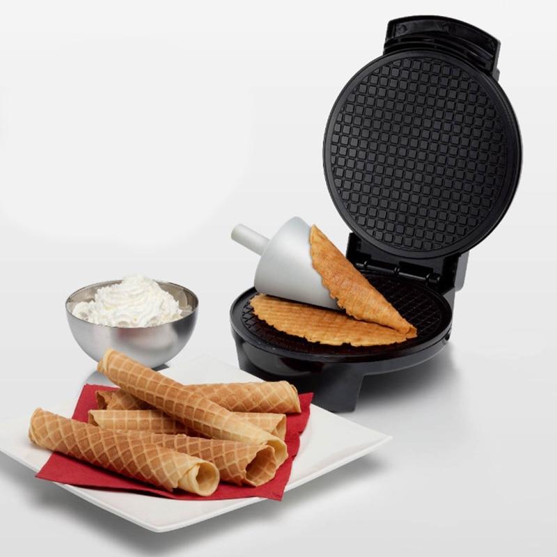 Voll Automatische Elektrische Waffeln Maker Elektrische Sandwich Pizza Pfannkuchen Maschine Non Stick Bratpfanne Ei Kuchen Ofen Frühstück Maschine-in Eismaschinen aus Haushaltsgeräte bei title=