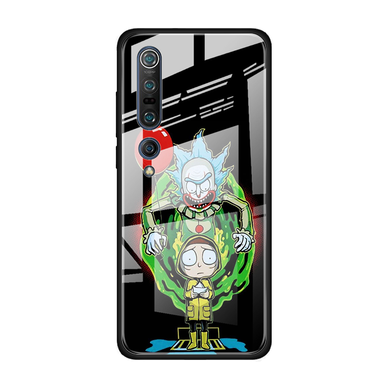 Rick And Morty Tempered Glass Case For Xiaomi Mi Note 10 Pro CC9 CC9E A3 9T 8 Lite 10 Lite 5G Poco X2 Cover Coque