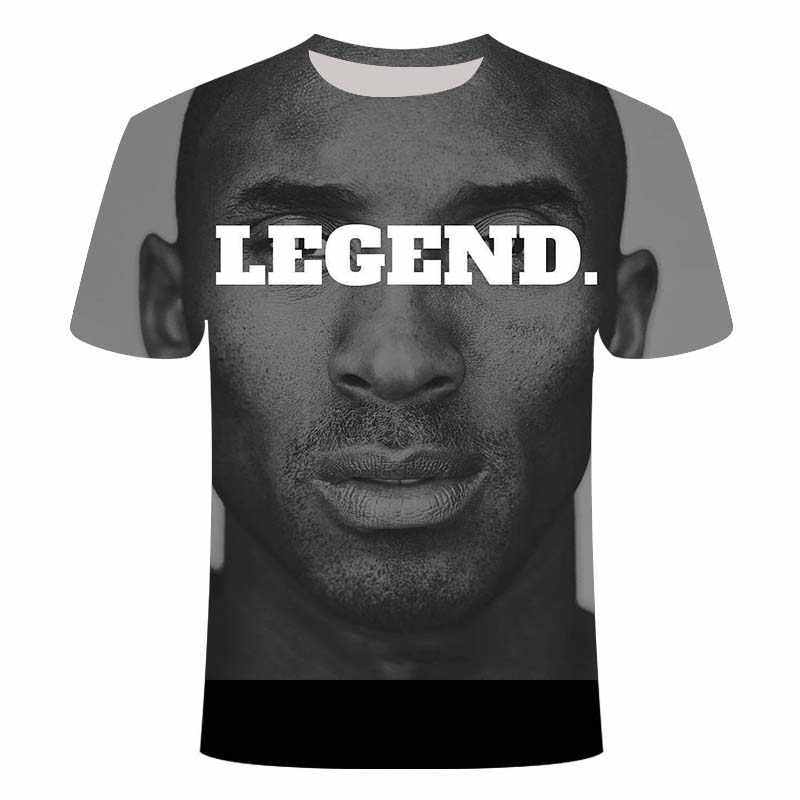 Kobe Bryan T Shirt Black Mamba Mannen T-shirt 3D Tops Fashion Korte Mouw Tops Mannen Tshirt Loose Casual Tee hip-Hop Grappige T-shirt