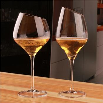 Skos kryształowy kieliszek do czerwonego wina ukośna lampka do czerwonego wina na wysokiej stopce szklany Boer zwykły kieliszek do wina bordowy kubek kufel na piwo tanie i dobre opinie ROUND Szkło Brandy snifters Ekologiczne Zaopatrzony K116876K