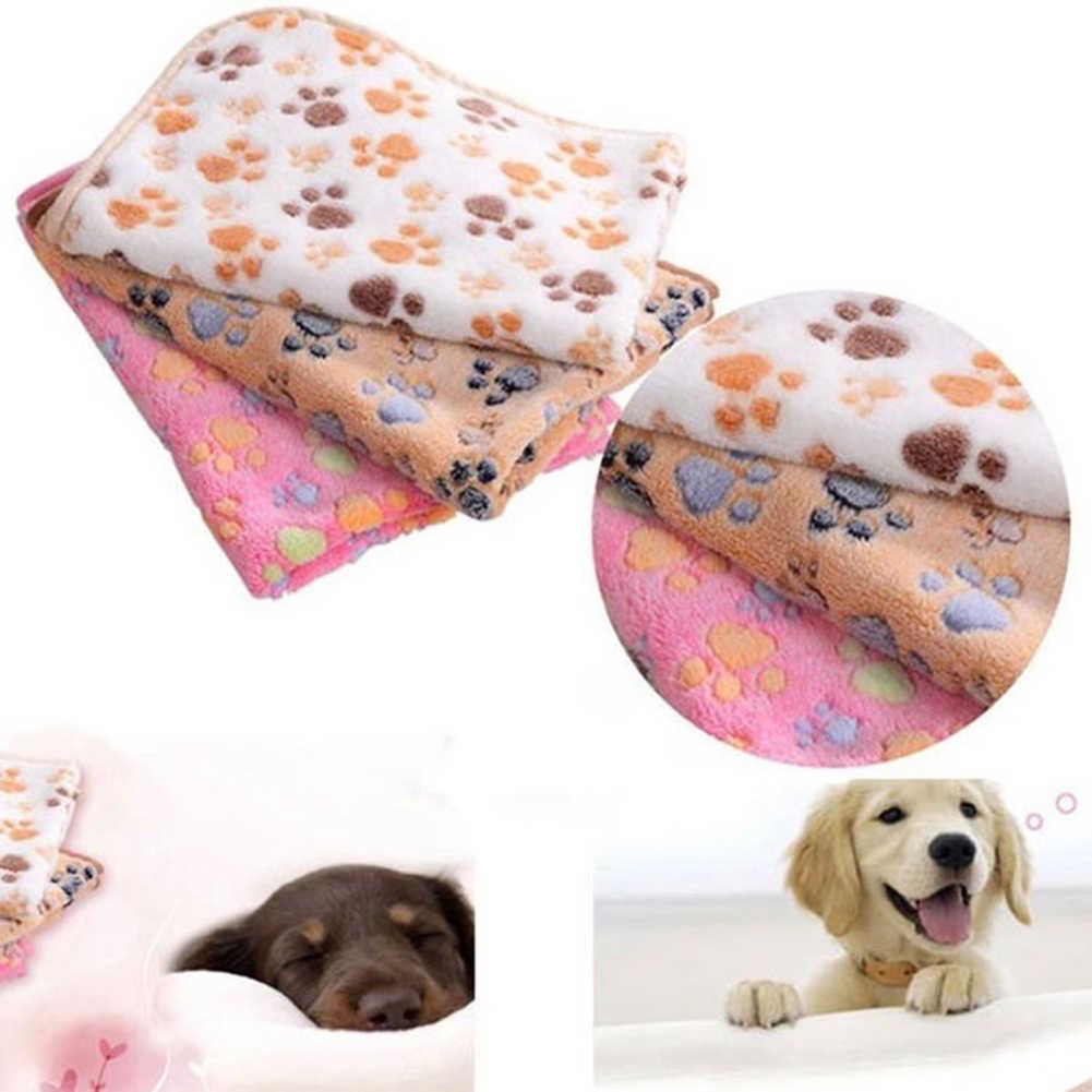 厚いタイプラブリー犬猫ポウ柄ソフトウォームペットクッションベッドパッドマットカーペット毛布