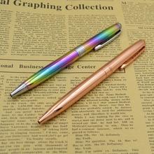 все цены на Metal Pen Rotating Ballpoint Pen 1 mm Black Ink School Writing Office Signature Supplies Gift Creative Stationery Gift онлайн