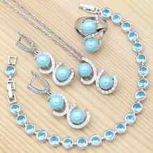 Женский комплект свадебных украшений из серебра 925 пробы с