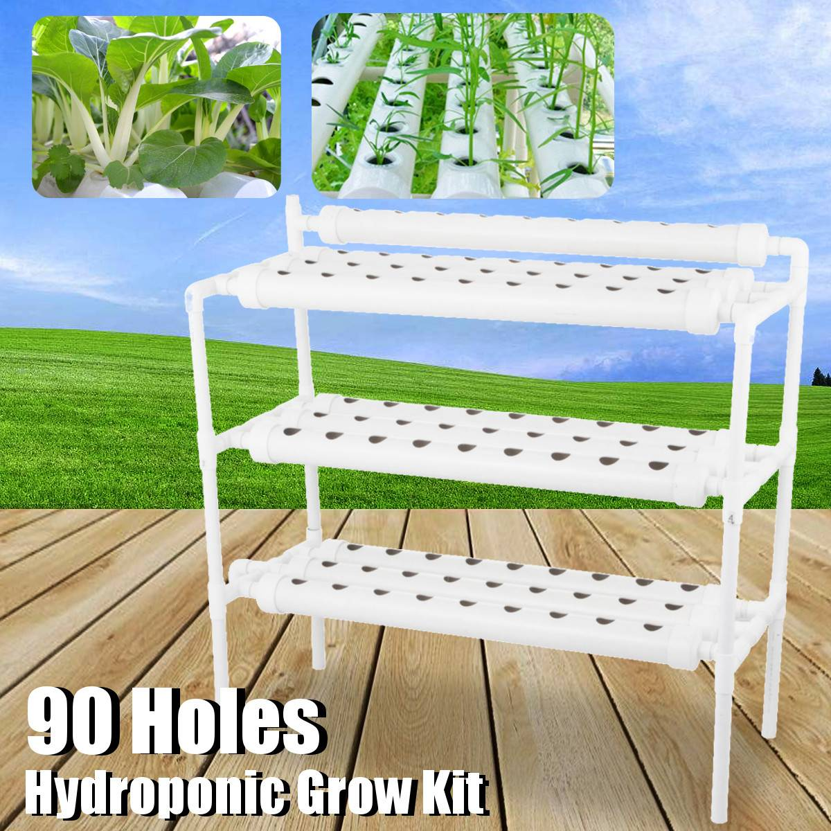 12 Types Plant Hydroponic Systems Grow Kit 108-8 Holes Nursery Pots Anti Pest Soilless Cultivation Indoor Garden Culture Planter