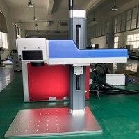 Laser Marking Machine Metal Raycus Laser Source Fiber Laser Marking Machine 30W With Rotary