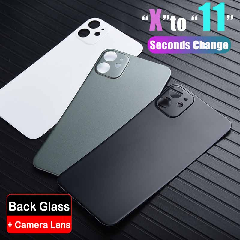 Newest Seconds Change Back Glass For IPhone X XS MAX XR To 11 Pro 11 PRO MAX With Camera Lens Sticker Modified Camera Back Cover