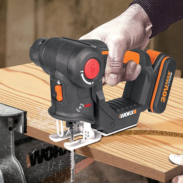 Worx 20V Electric Saw WX550 Cordless Reciprocating Saw jigsaw 2in1 Rechargeable Scroll Saw Multi purposed saw Handheld PowerTool 4