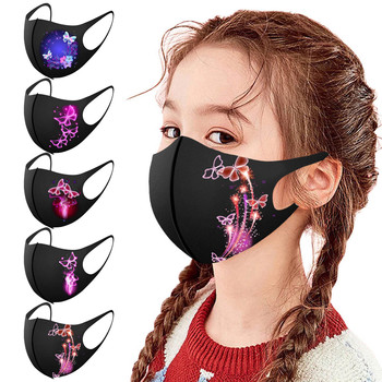 Pretty Butterfly Mask Multiple Proteccion Winter Mouth Cap Children's Fashion Washable Reusable Pollution Face Masks Masque image