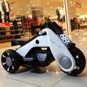 Большой электрический мотоцикл для мальчиков и девочек 88 см, для детей, игрушечный автомобиль, светодиодный светильник, светящийся в темнот...