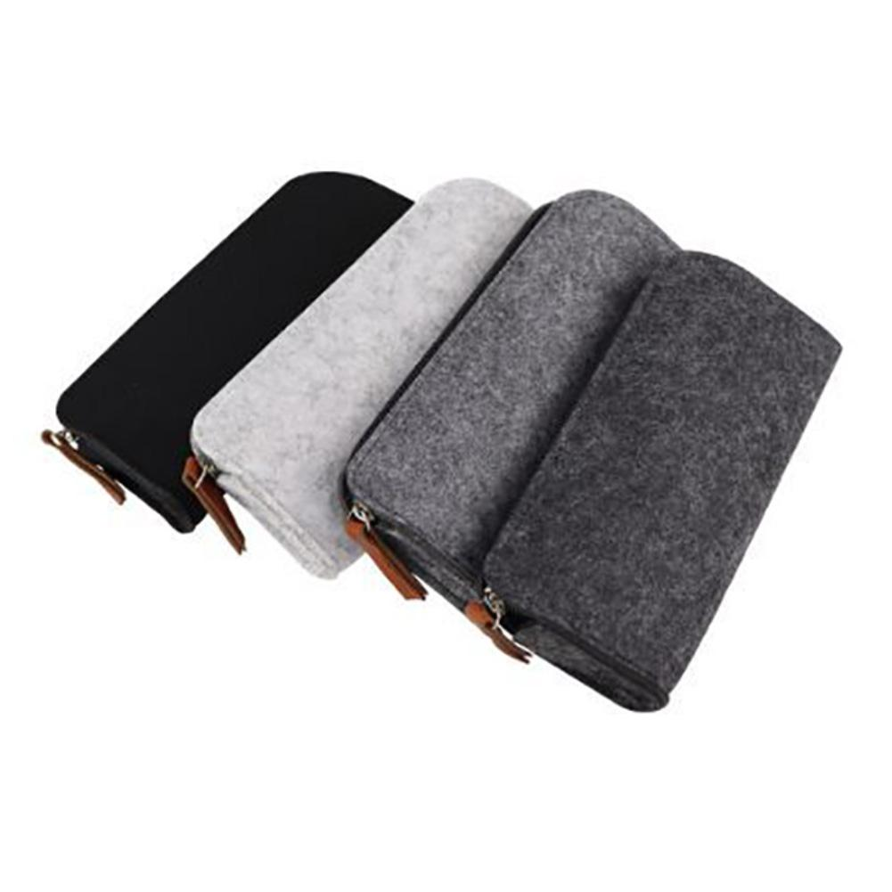 2 Pack Felt Pencil Bag Pen Case Students Stationery Pouch with Zipper for Pens Pencil Keys Organizer Women Makeup Storage