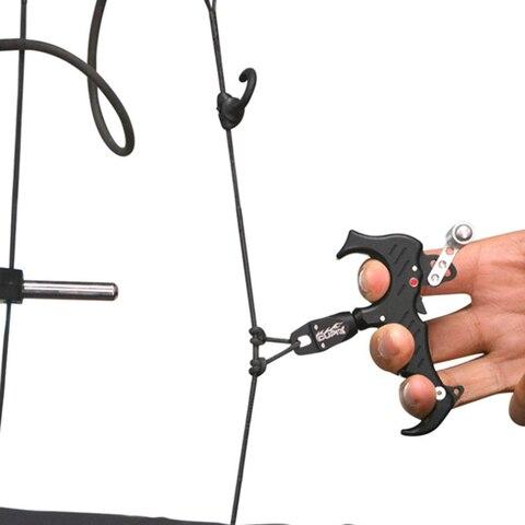 tiro com arco liberacao auxilio polegar 3 4 dedo composto aperto rotativo acessorio